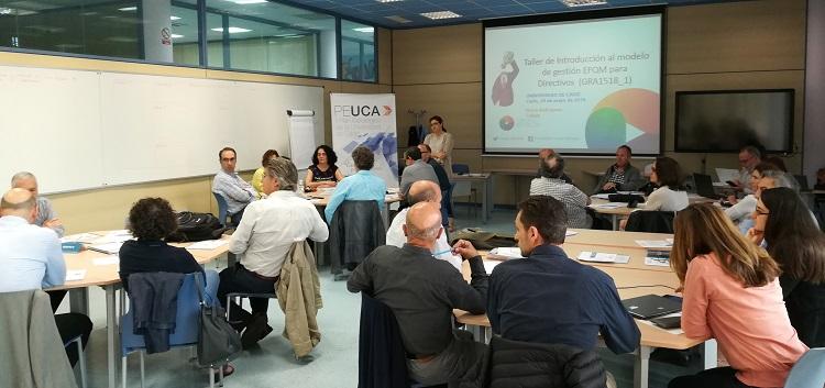 Los directivos de la UCA reciben formación especializada en el modelo EFQM