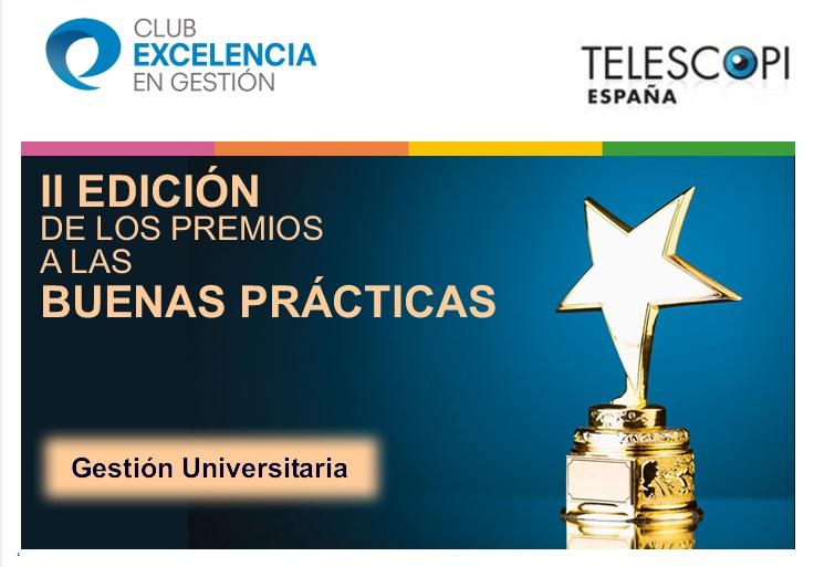 El II PEUCA finalista en los Premios a las Buenas Prácticas en Gestión Universitaria 2018